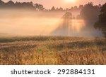 Misty Morning Landscape Of...