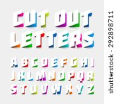 Alphabet Letters Cut Out From...