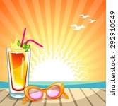 summer holiday background with... | Shutterstock .eps vector #292910549