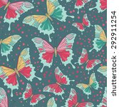 seamless pattern with colorful... | Shutterstock .eps vector #292911254