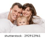 a young family with little... | Shutterstock . vector #292912961