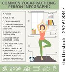 yoga lifestyle infographic with ... | Shutterstock .eps vector #292918847