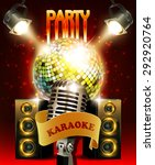 karaoke party background with... | Shutterstock . vector #292920764