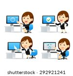 vector cartoon illustration  ... | Shutterstock .eps vector #292921241