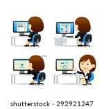 vector cartoon illustration  ... | Shutterstock .eps vector #292921247