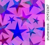 stars seamless vector pattern | Shutterstock .eps vector #292921367