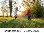 happiness mother and son in... | Shutterstock . vector #292928021