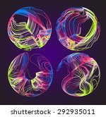 moving colorful lines of... | Shutterstock .eps vector #292935011