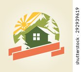 house in mountains logo sample  ... | Shutterstock .eps vector #292939619