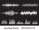 sound wave icon set. equalize... | Shutterstock .eps vector #292942175