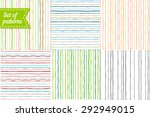 set of colored backgrounds with ... | Shutterstock .eps vector #292949015