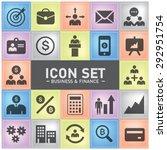 business finance icon for... | Shutterstock .eps vector #292951754