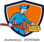 illustration of a plumber in... | Shutterstock . vector #292955684