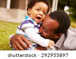 father bonding with his toddler ... | Shutterstock . vector #292955897