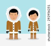 characters eskimos woman and...