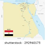 egypt map with flag | Shutterstock .eps vector #292960175
