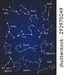 set of zodiac constellations.... | Shutterstock .eps vector #292970249