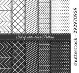 set of black white abstract... | Shutterstock .eps vector #292970939