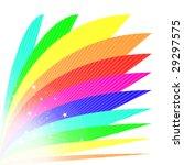 Bright Rainbow Fan Illustratio...