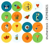 simple flat icons collection... | Shutterstock .eps vector #292983821