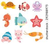 Cute Characters Of Ocean
