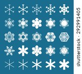 snowflakes and snowflakes... | Shutterstock .eps vector #292991405