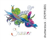 abstraction for summer with... | Shutterstock .eps vector #292991801