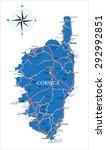 corsica map | Shutterstock .eps vector #292992851