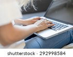 detail of hands typing on... | Shutterstock . vector #292998584