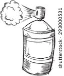 doodle spray can vector... | Shutterstock .eps vector #293000531