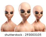 Aliens 3d Illustration