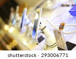 mobile phone in shop ... | Shutterstock . vector #293006771