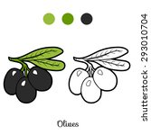 coloring book  fruits and... | Shutterstock .eps vector #293010704