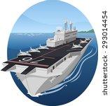 aircraft carrier war battle...   Shutterstock .eps vector #293014454
