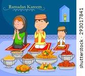 happy muslim family enjoying...   Shutterstock .eps vector #293017841