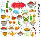 ramadan kareem designing object ...   Shutterstock .eps vector #293017847