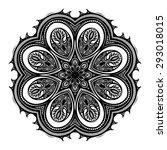 beautiful deco black mandala ... | Shutterstock . vector #293018015