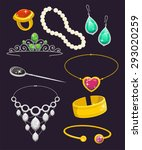 jewelry set vector illustration ... | Shutterstock .eps vector #293020259