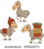 peruvian llama lama with... | Shutterstock .eps vector #293020271