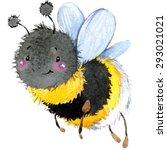 Cartoon Insect Bumblebee...