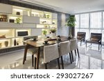 luxury dinning room interior | Shutterstock . vector #293027267