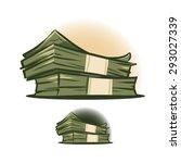 packed dollars money isolated | Shutterstock .eps vector #293027339