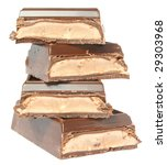 bar chocolate on a white... | Shutterstock . vector #29303968