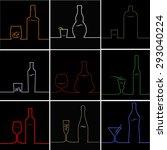 abstract vector concept... | Shutterstock .eps vector #293040224