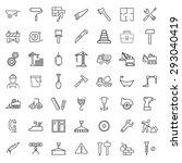 outline web icons set  ... | Shutterstock .eps vector #293040419