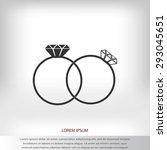 rings icon | Shutterstock .eps vector #293045651