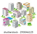 set of detailed isometric... | Shutterstock .eps vector #293046125