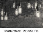 decorative antique edison style ... | Shutterstock . vector #293051741