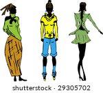 fashion model | Shutterstock .eps vector #29305702