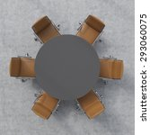 top view of a conference room.... | Shutterstock . vector #293060075